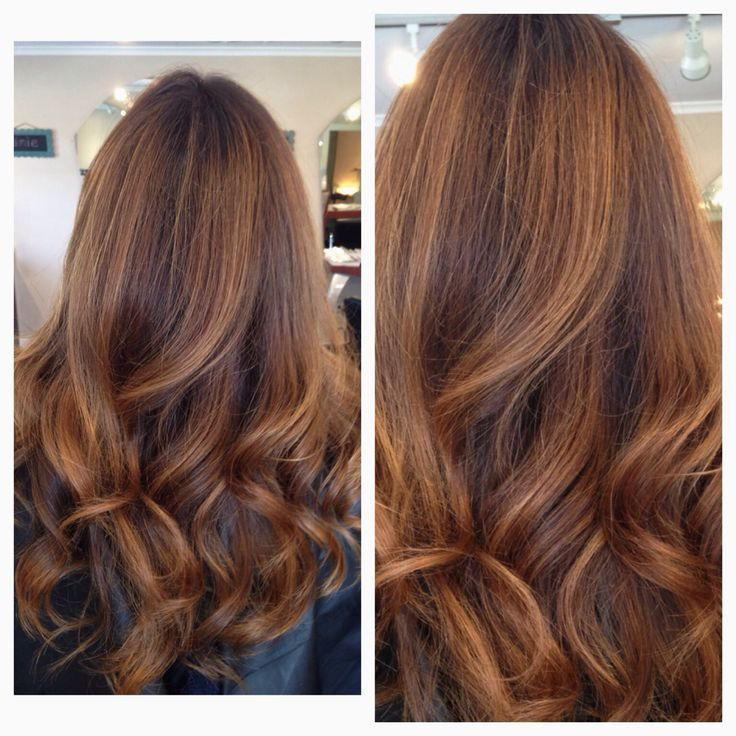 Fall hair golden copper Haircolor trends 2014 October Cut and Color by Natalie Solotes at Exclusively Hair on Transit Balayage lowlights babylights baby fine highlights Behind the chair