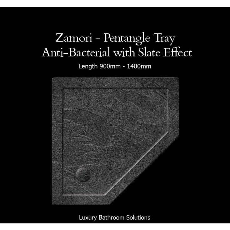 ZAMORI - Luxury Designer Pentangle Shower Tray - Designer Bathrooms & Designs