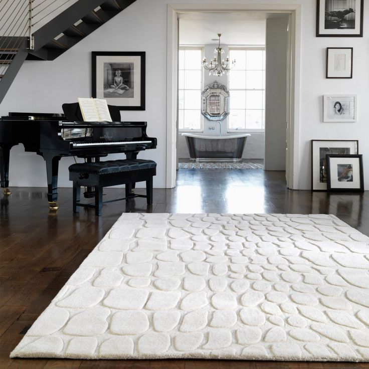 Croc Cream Sculptured Design Wool Rug by Asiatic Asiatic offered Croc cream is such a delight to possess and see courtesy of its abstract sculptured designs. #modernrugs #woolrugs #whiterugs #woolrugs #handmaderugs #abstractrugs
