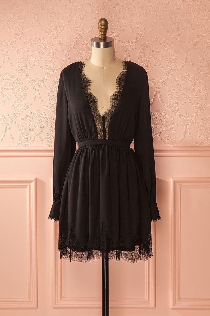 Carice - Little black dress with lace details  www.1861.ca
