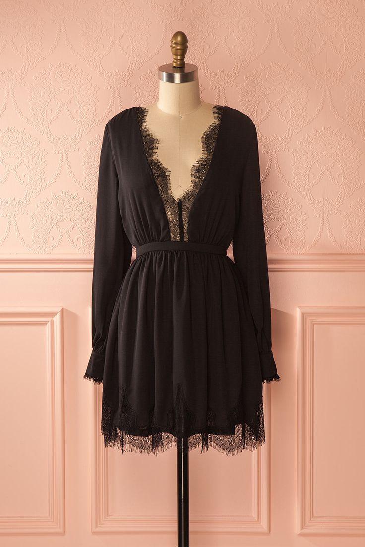 Petite robe noire avec détails de dentelle - Little black dress with lace details