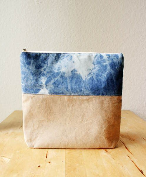 Fold over Batik Clutch Tasche von niemalsmehrohne auf DaWanda.com, 19,99