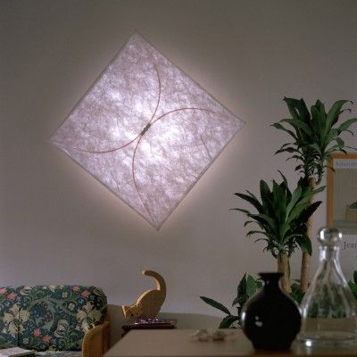 The Flos Ariette Collection Features a Beautiful Range of Fabric Covered Foldable Square Lighting that Make Excellent Wall or Ceiling Lights.