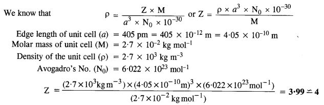 Ncert Solutions For Class 12 Chemistry Chapter 1 The Solid State Chemistry Solutions Molar Mass
