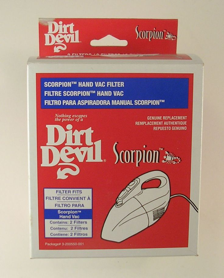 Dirt Devil Scorpion Filter Box with 2 new Filters Genuine Replacement Parts #DirtDevil
