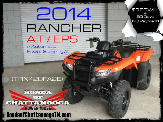 2014 Rancher 420 Orange TRX420FA2E SALE Price at Honda of Chattanooga is too Low to advertise. Visit www.HondaofChattanoogaTN.com or Call / Email Kevin for the lowest & best 2014 TRX420 Rancher 4x4 ATV Sale Price. Our 2014 Rancher AT 420 ATVs are in stock and we have special financing promotions with $0 DOWN. 2014 TRX420FM1E / TRX420FM2E / TRX420FM1E / TRX420FM2E / TRX420FA1E / TRX420FA2E / TRX420FAE / TRX420FPAE. Wholesale Honda ATV Prices Honda of Chattanooga TN GA AL ATV Dealer