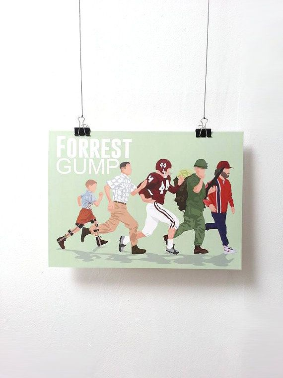 Forrest Gump version 2 Movie Print  Poster by MinusculeMotion