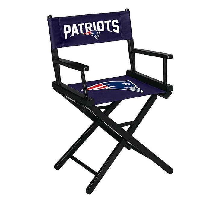 Officially Licensed NFL Table Height Director's Chair - Patriots