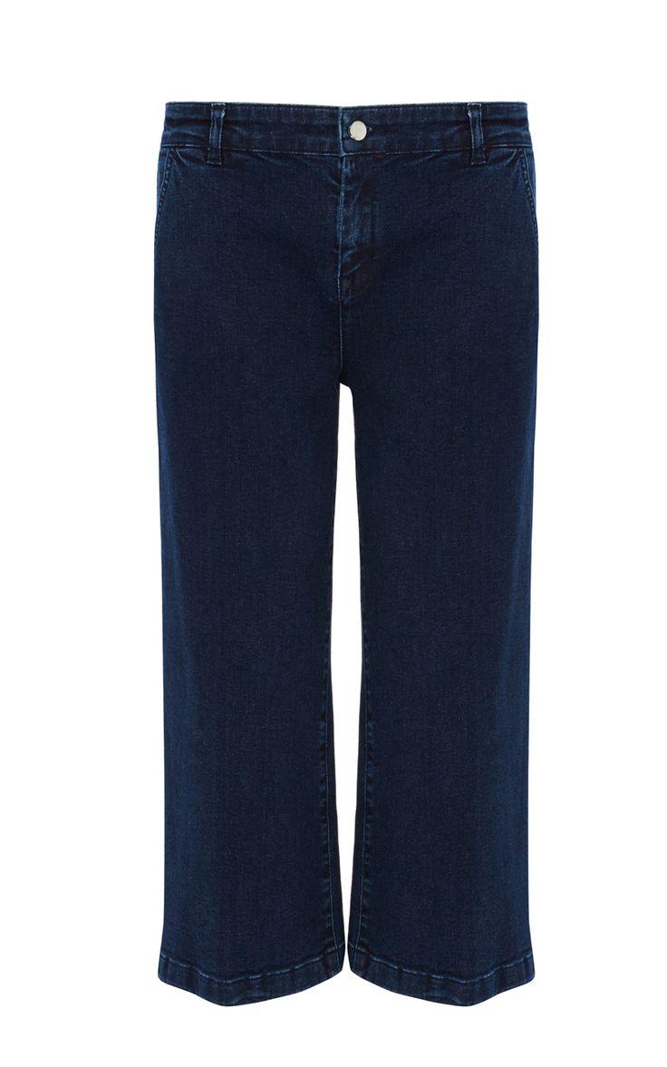 Jeans | Denim Dark indigo denim culotte | Karen Millen