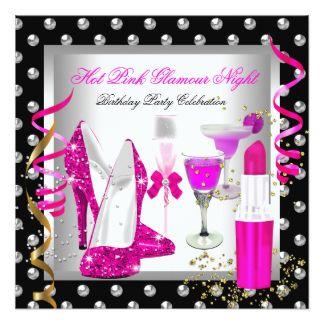 Fête d'anniversaire d'argent de rose de nuit de carton d'invitation  13,33 cm