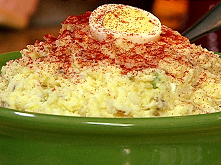 5 star reviews X 100+...must taste okay! Food Network invites you to try this Grandma Jean's Potato Salad recipe from Patrick and Gina Neely.