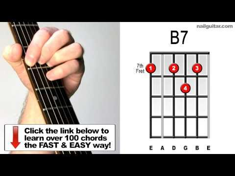 How to Play B7 - Guitar Chord Lesson - For Blues Songs (Stevie Ray Vaughan, BB King, Eric Clapton) - http://music.ritmovi.com/how-to-play-b7-guitar-chord-lesson-for-blues-songs-stevie-ray-vaughan-bb-king-eric-clapton/