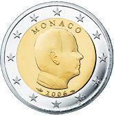 €1 Monaco, dit is een portret van Z.D.H. Prins Albert II