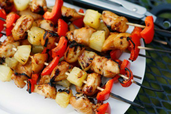 firetruck party food- chicken skewers
