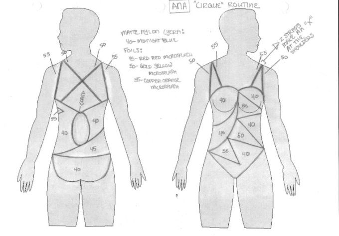 design a synchronized swimming competition suit