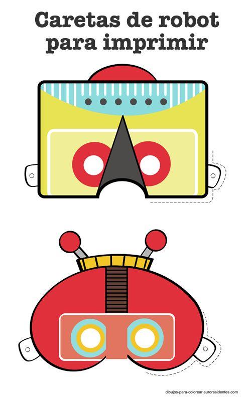 caretas de robot para imprimir. Masks robots