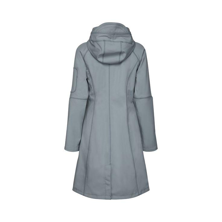 Danish Ilse Jacobsen's full length softshell, hooded raincoat is stylish,  warm and offers 100