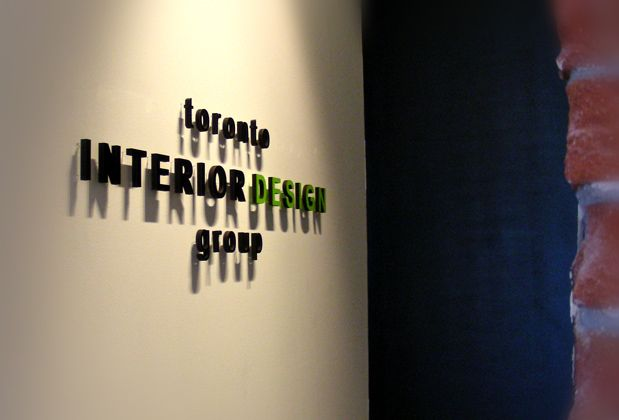 office sign for Toronto Interior Design Group in Office Signs