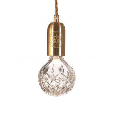 Crystal Bulb Pendant Clear Bulb / Brass Taklampa | Lee Broom | Länna Möbler | Handla online