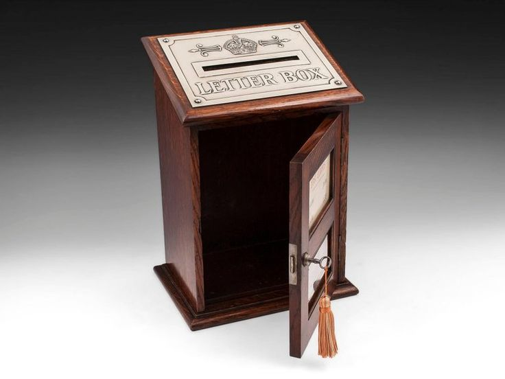 Army and Navy Solid Oak Country House Letter Box, 20th Century 6