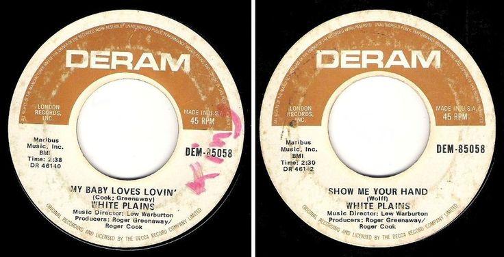 White Plains / My Baby Loves Lovin' (1970) / Deram DEM-85058 (Single - 45 rpm) #1970sPopRock