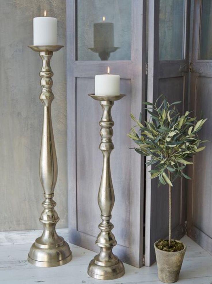 Tall Metal Pillar Candle Holders : Best tall floor pillar candle holders stands images on