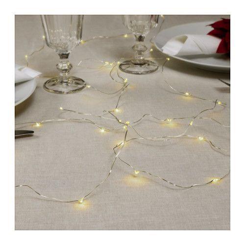 200**STRÅLA Osvětlovací řetěz LED se 40 žár. IKEA Žárovka LED spotřebuje až o 85 % méně energie a má až 10krát delší životnost než běžné žárovky.