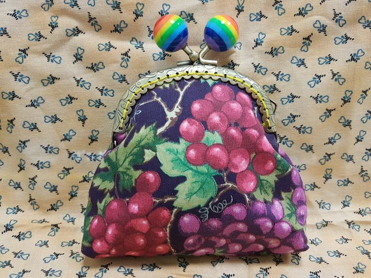 Lovely purse entirely handstitched with love