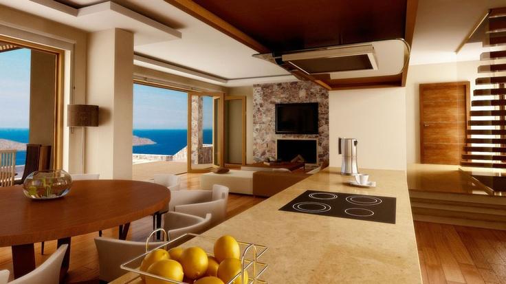 Elounda Peninsula - Crete, Greece  / Kitchen view