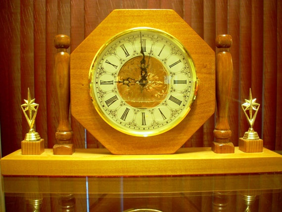 Beautifully hand carved mantel clock with Winchester Chimes by IndigoAmbiance, $135.00