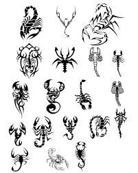 scorpio tattoo ideas..i like the bottom left for a wrist tattoo..add a little cross through the tail...perfect!