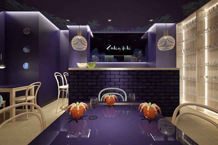 motywy marynistyczne w apetycznym wnętrzu restauracji Zakątek
