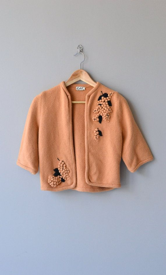 Uva Rara cardigan vintage 1960s cardigan wool 60s by DearGolden