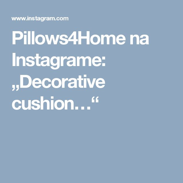 "Pillows4Home na Instagrame: ""Decorative cushion…"""
