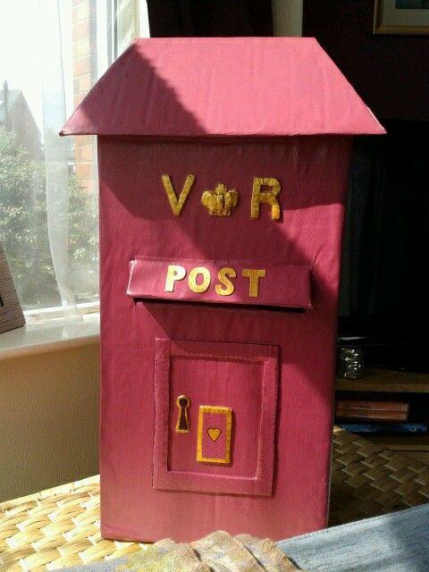 Wedding card victorian style post box