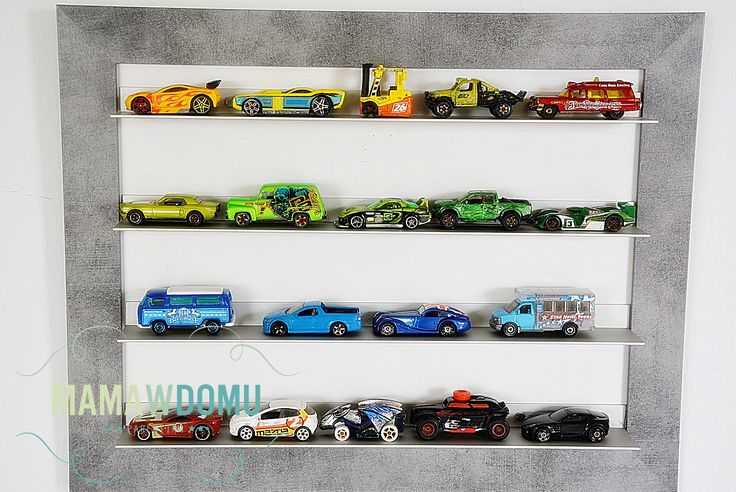 Wystawka organizer na samochody resoraki #kidsroom #diy #hotwheels