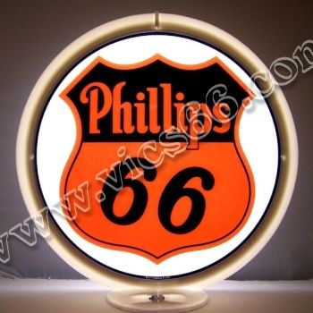 Phillips 66 13.5 Inch Gas Pump Globes - Vic's 66 - Gas Pump Parts, Globes and Memorabilia