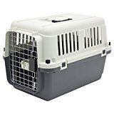 Plastic Kennels  Rolling Plastic Airline Approved Wire Door Travel Dog Crate Small