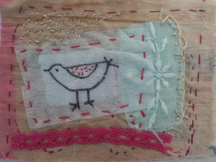 Small bird stitching. Ivonne Mace
