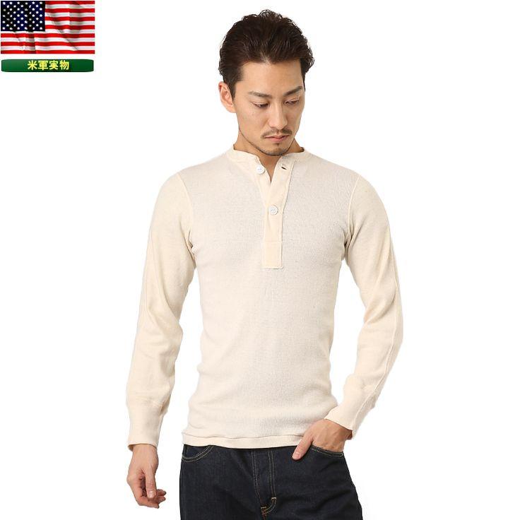 http://item.rakuten.co.jp/auc-waiper/slt072406110/ 実物 新品 米軍ヘンリーネックアンダーシャツ 2ボタン #ミリタリーセレクトショップWIP #men's #メンズ #MILITARY #T-SHIRT #Tシャツ #長袖 #longsleev