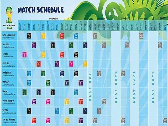 Calendario Mundial 2014, no dejes de descargarlo para saber todo sobre las fechas y las horas en que se jugarán todos los partidos en la Copa FIFA de Brasil 2014.  Calendario Mundial 2014 (http://www.fifa.com)  Calendario Mundial FIFA 2014. El e