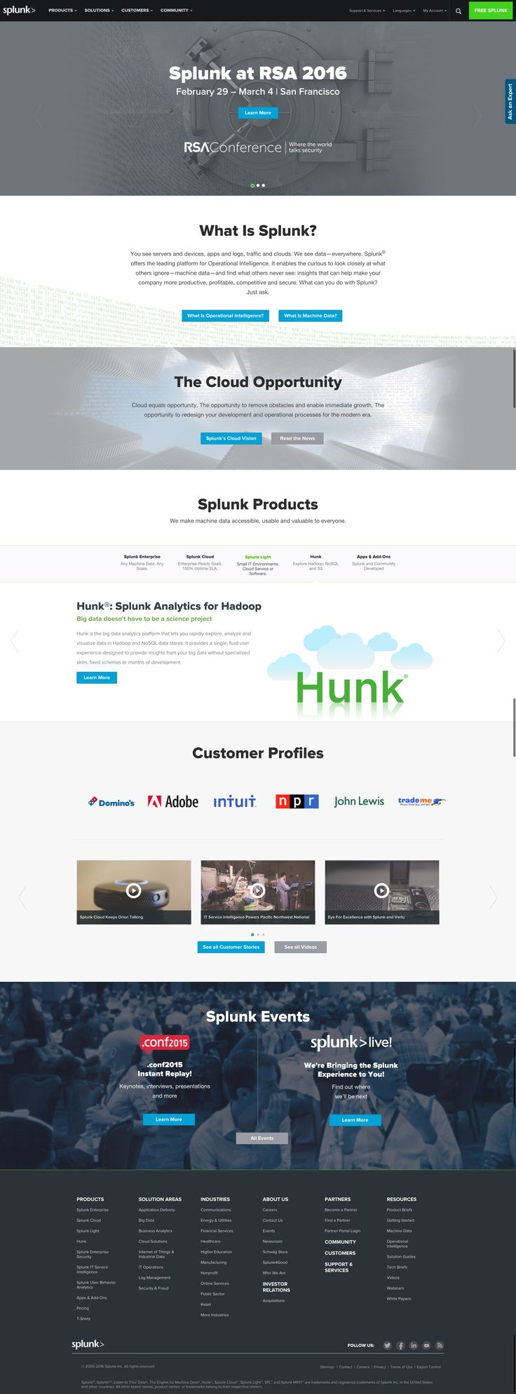 102 best Tech Company Homepage Designs images on Pinterest ...