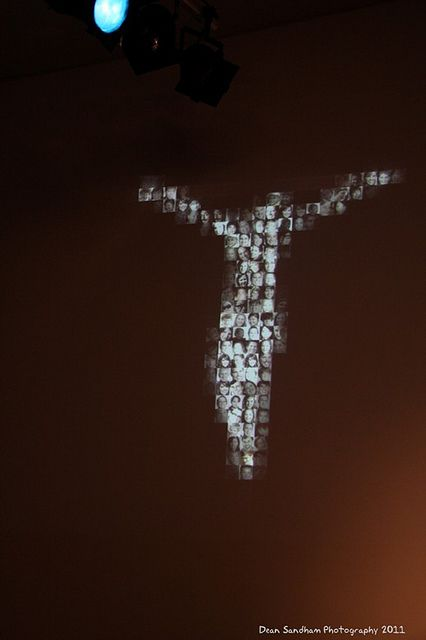 The Body of Christ- made of pics of youth group members.  great visual for taking about The Body of believers, and to literally put someone's face and their sin on His Body and death.
