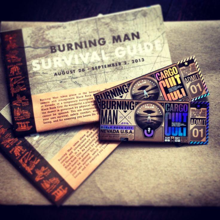 Tickets in hand. Cargo Cult. Burning Man 2013.