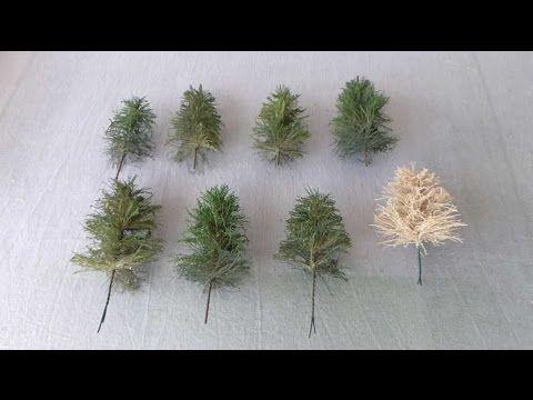 Cómo fabricar árboles para maquetas - YouTube