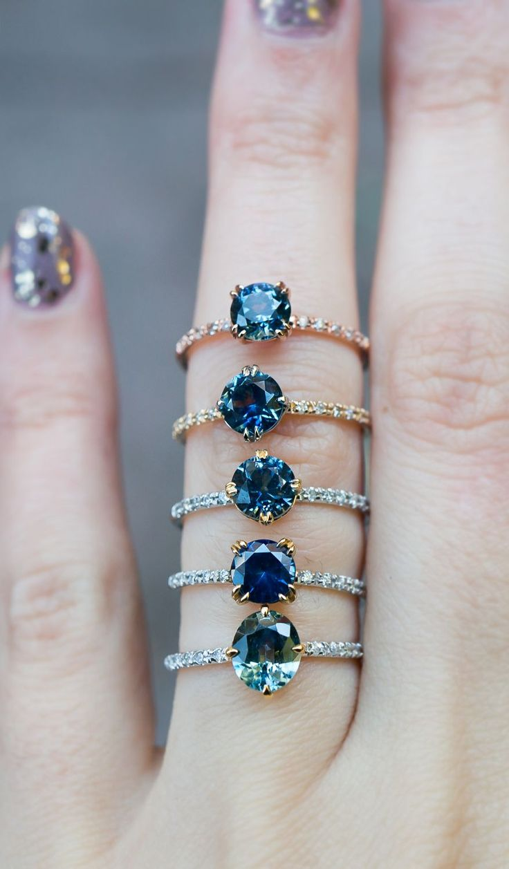 Unique Sapphire engagement rings by S. Kind & Co. Available for last minute holiday proposals!
