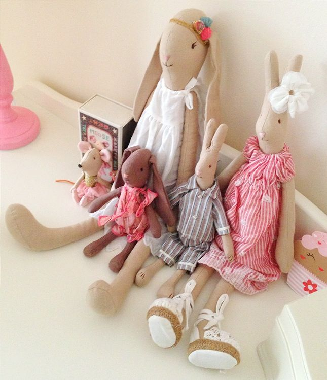 M's Maileg Collection is growing! They are the sweetest bunnies & rabbits oh and not forgetting the little Mouse