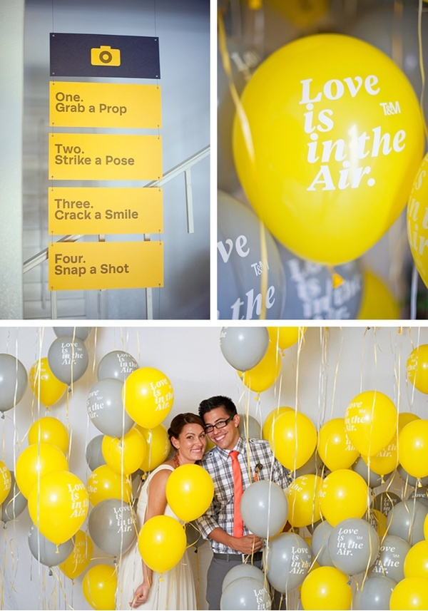 What happens when two graphic designers get married... Adorably creative wedding ideas.