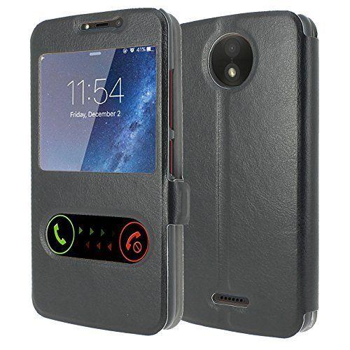 Motorola Moto C Plus Housse Cuir [MP-FR] Etui Housse Coque de protection S-View Folio (Windows View) Pour Motorola Moto C Plus:…