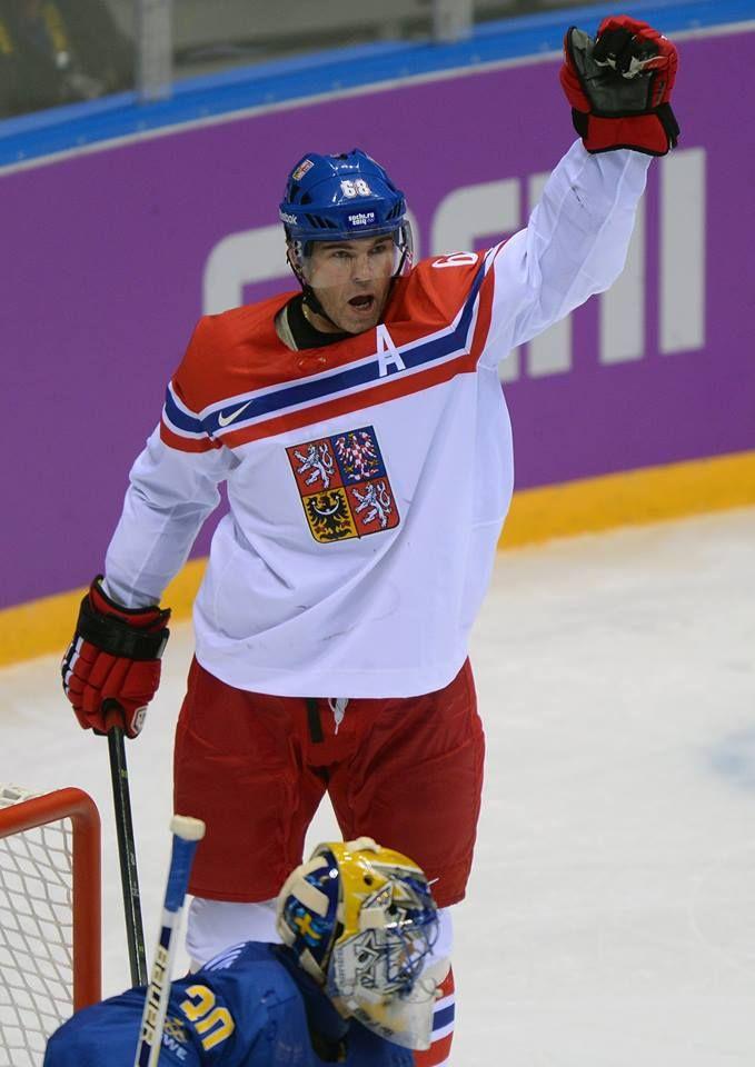 Jaromír Jágr (Olympic Games 2014; Czech Republic x Sweden 2:4)